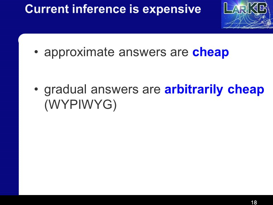 Current inference is expensive