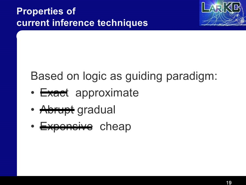 Properties of current inference techniques