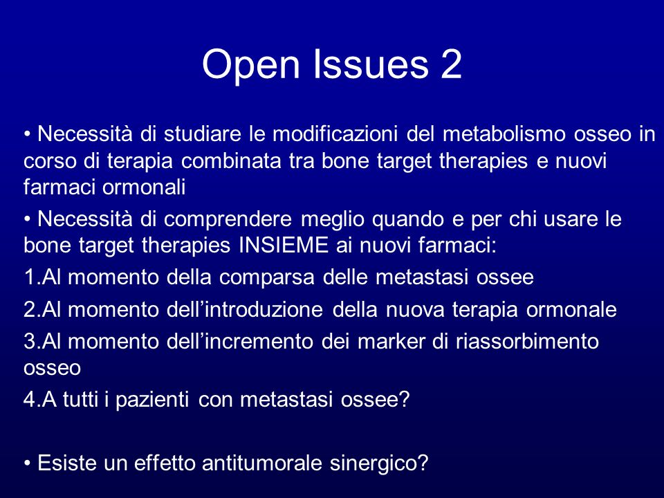 Open Issues 2