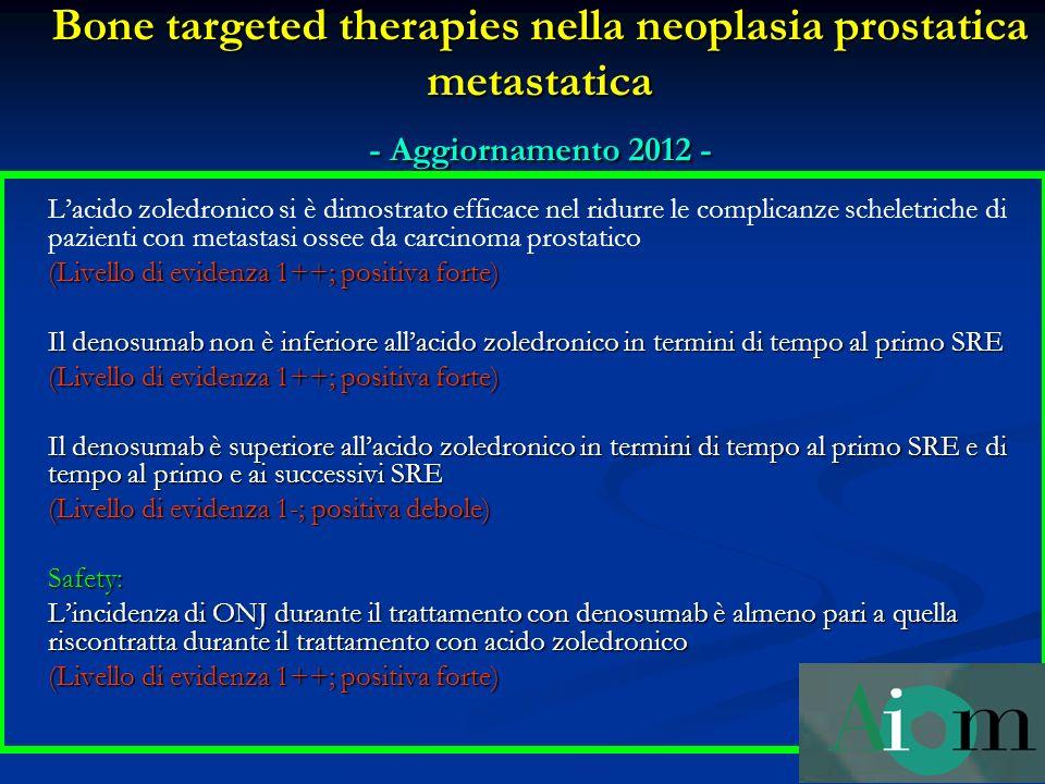 Bone targeted therapies nella neoplasia prostatica metastatica - Aggiornamento 2012 -