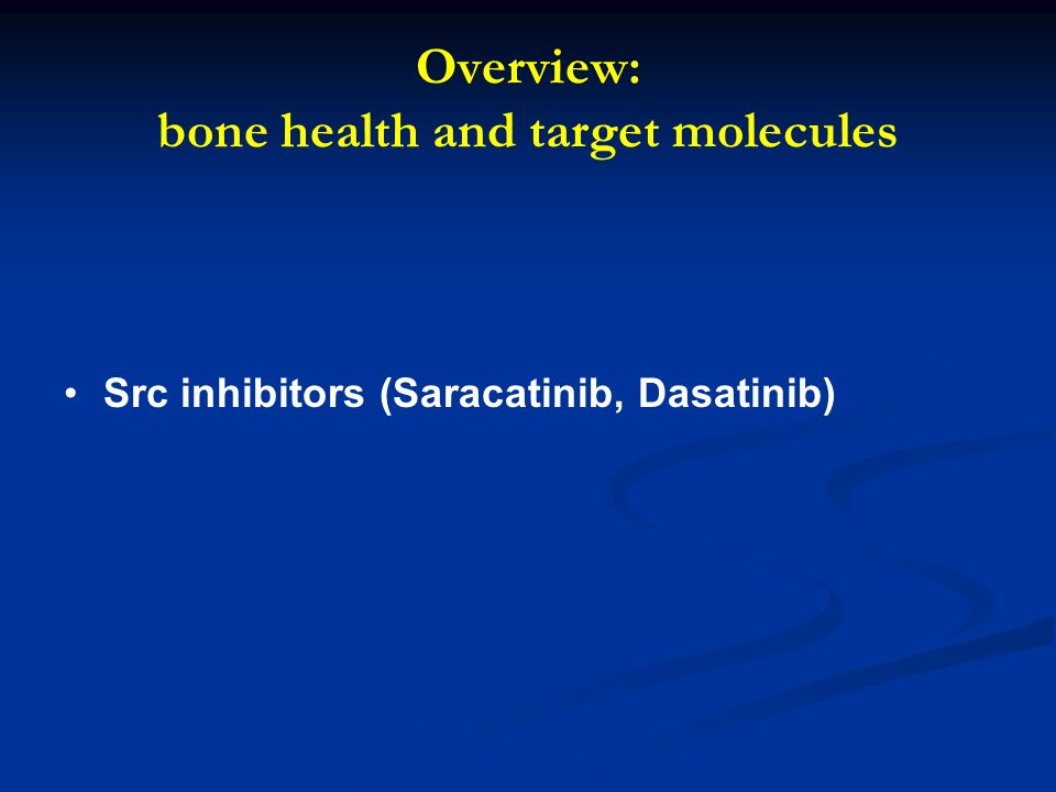 Overview: bone health and target molecules