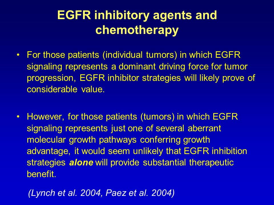 EGFR inhibitory agents and chemotherapy