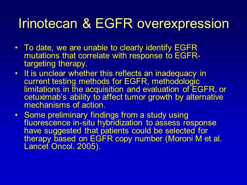 Irinotecan & EGFR overexpression