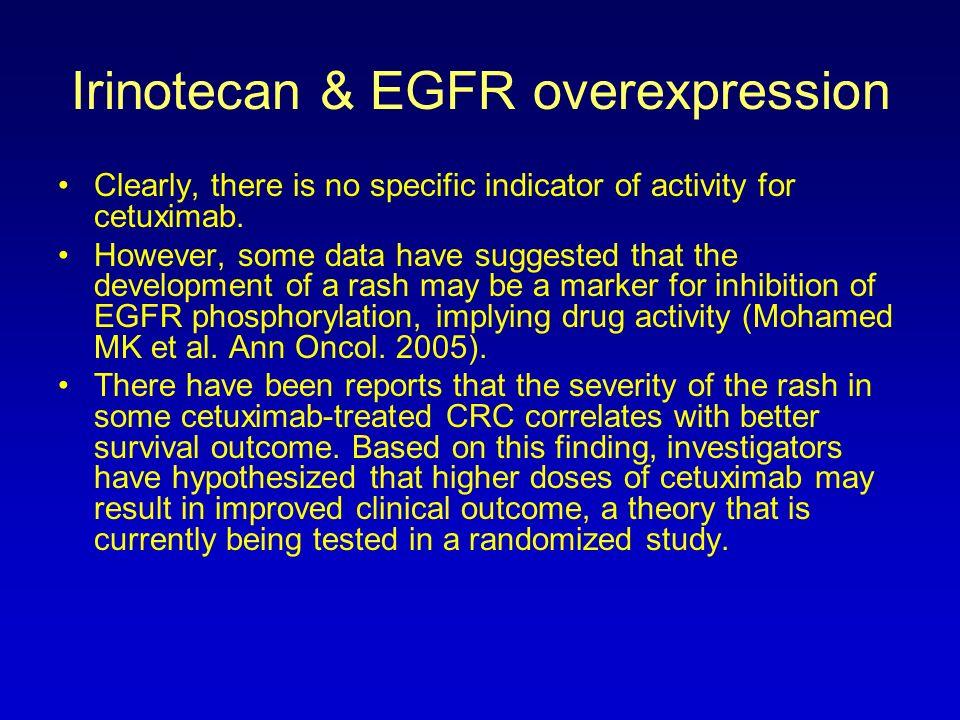 Irinotecan & EGFR overexpression