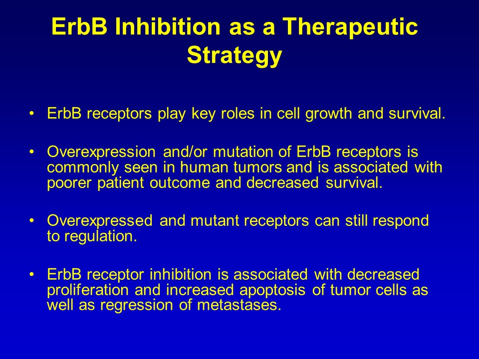 ErbB Inhibition as a Therapeutic Strategy