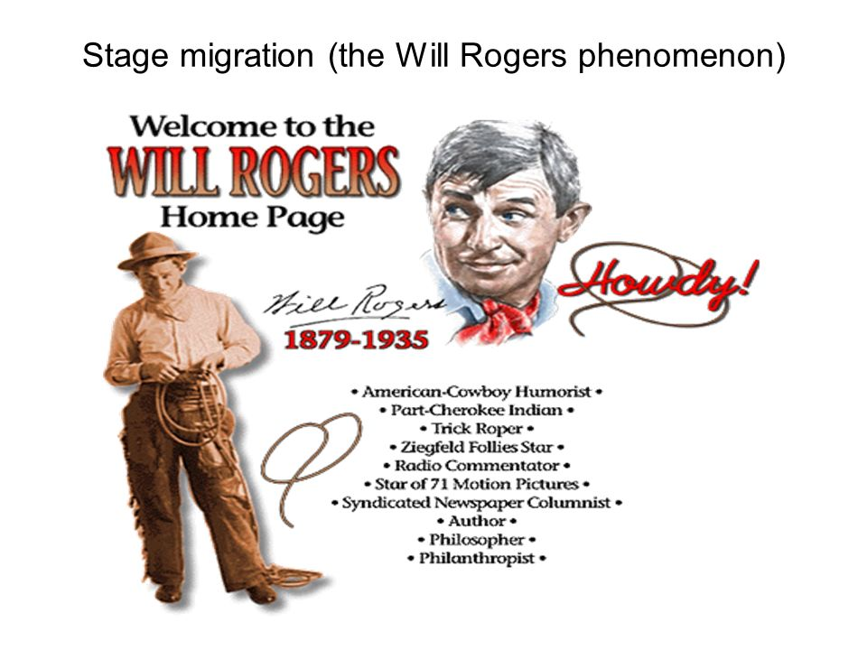 Stage migration (the Will Rogers phenomenon)
