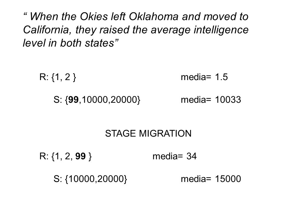 When the Okies left Oklahoma and moved to California, they raised the average intelligence level in both states