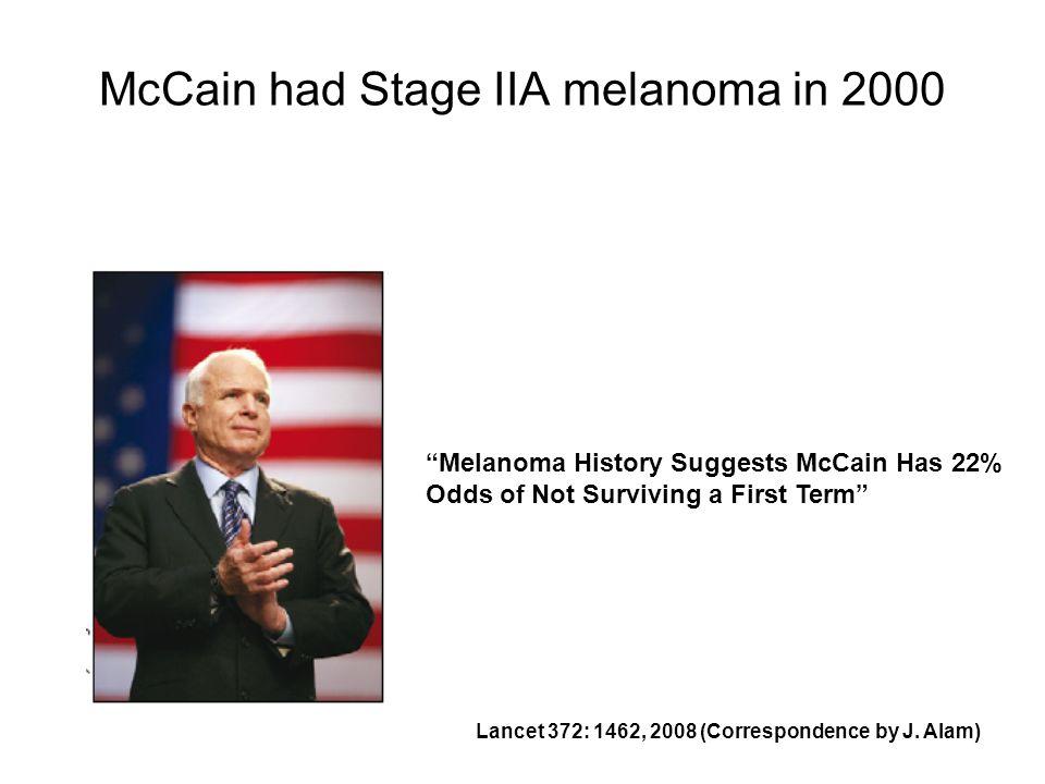 McCain had Stage IIA melanoma in 2000