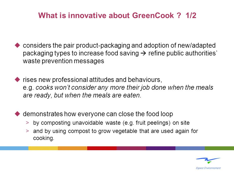 What is innovative about GreenCook 1/2