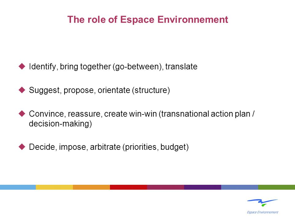 The role of Espace Environnement