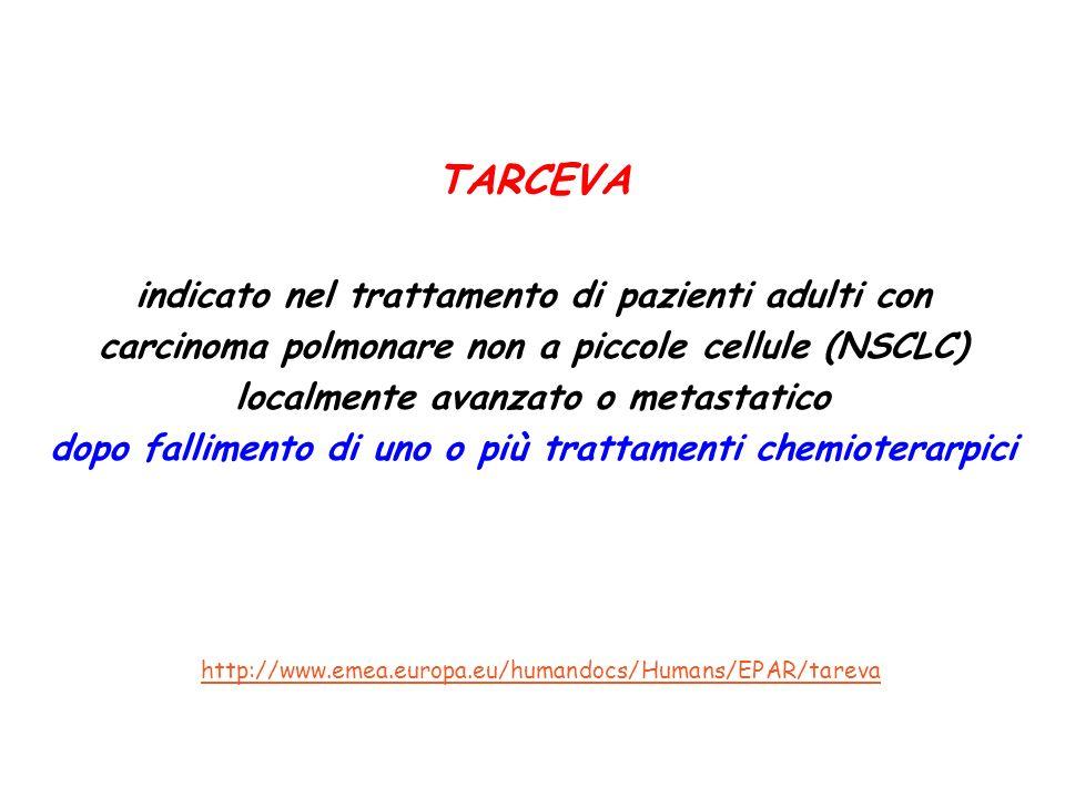 TARCEVA indicato nel trattamento di pazienti adulti con