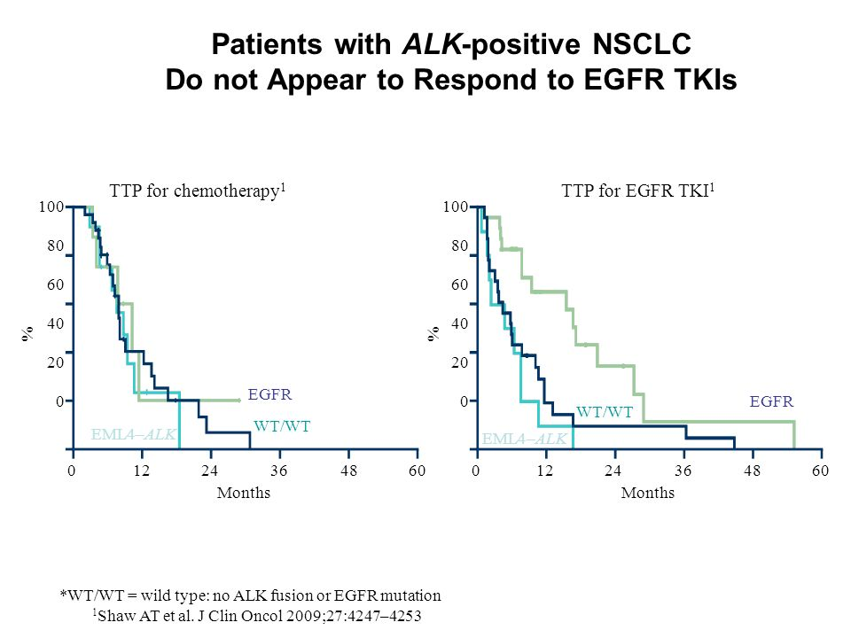 Patients with ALK-positive NSCLC Do not Appear to Respond to EGFR TKIs