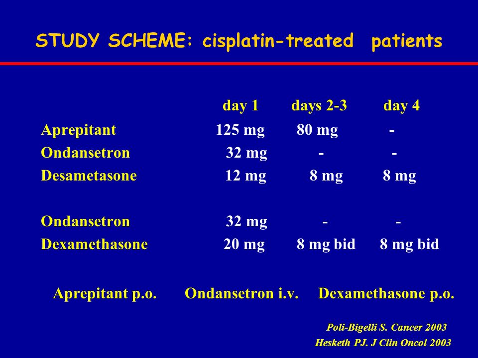 STUDY SCHEME: cisplatin-treated patients