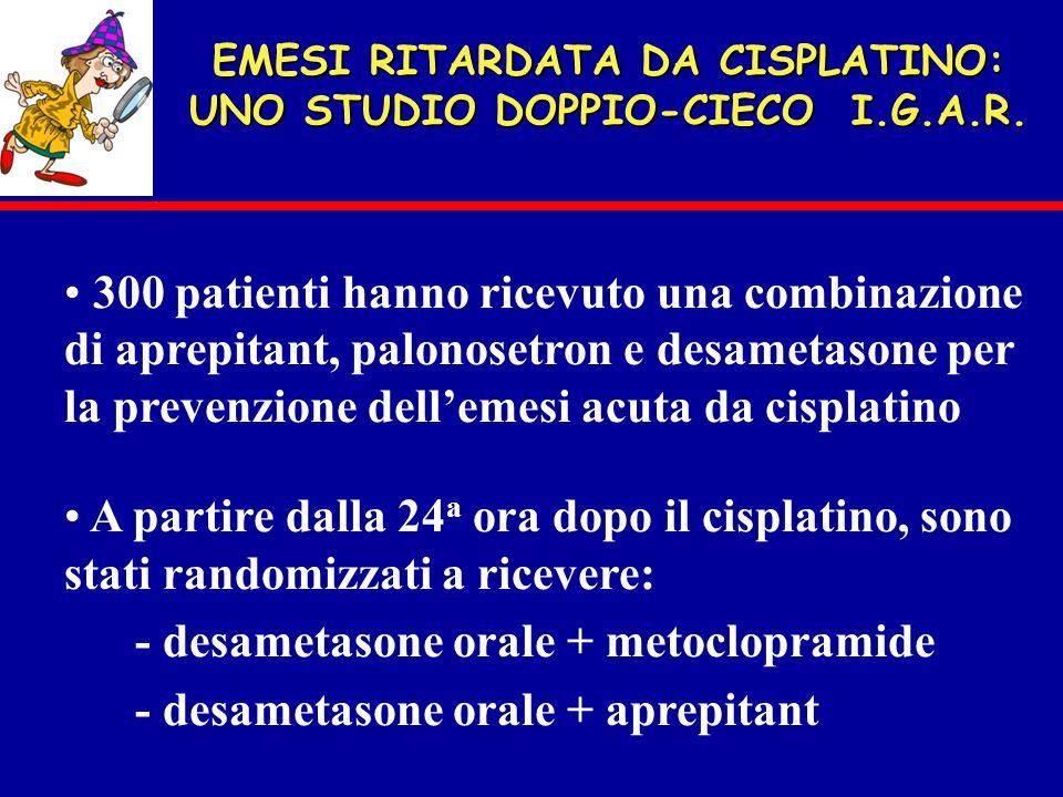 EMESI RITARDATA DA CISPLATINO: UNO STUDIO DOPPIO-CIECO I.G.A.R.
