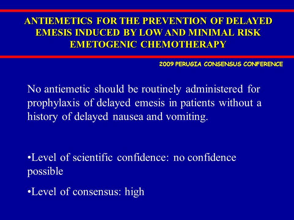 Level of scientific confidence: no confidence possible