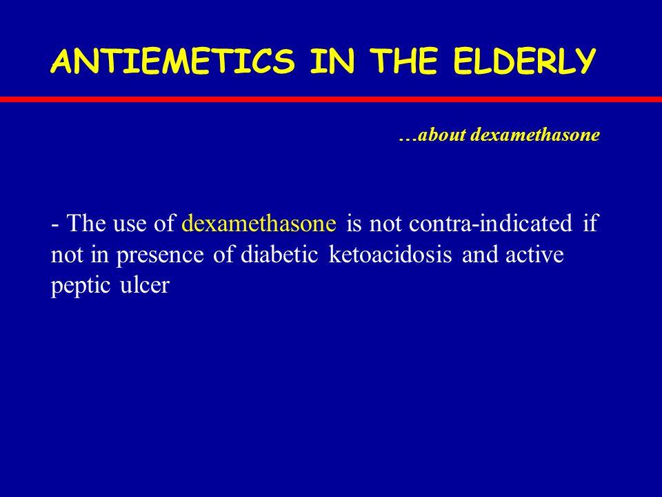 ANTIEMETICS IN THE ELDERLY