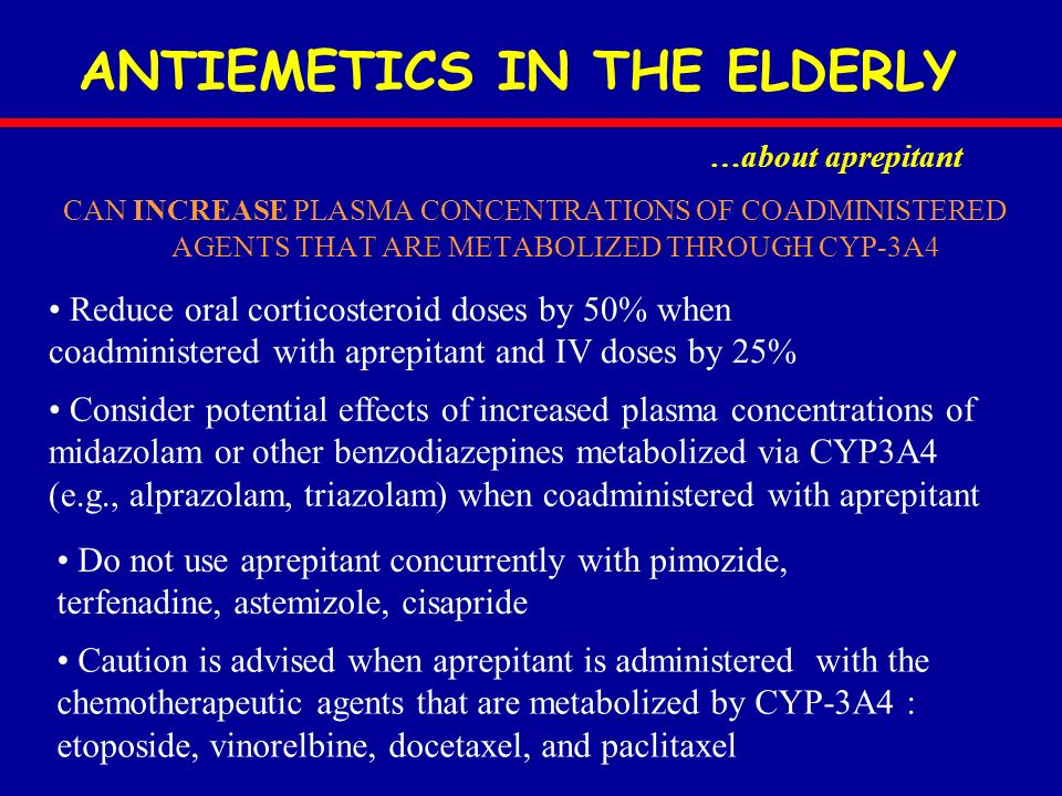 ANTIEMETICS IN THE ELDERLY