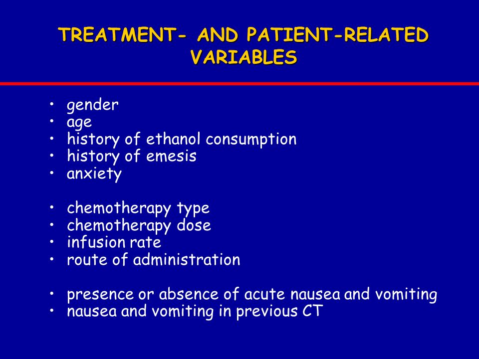 TREATMENT- AND PATIENT-RELATED VARIABLES