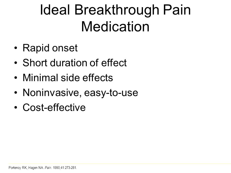 Ideal Breakthrough Pain Medication