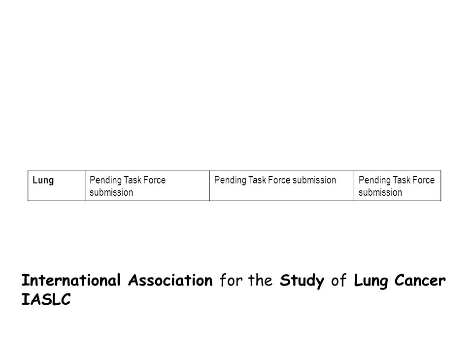 International Association for the Study of Lung Cancer IASLC