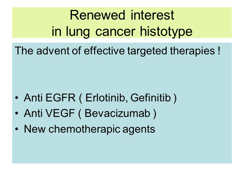 Renewed interest in lung cancer histotype