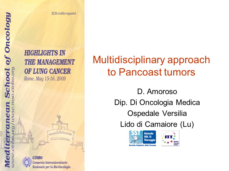 Multidisciplinary approach to Pancoast tumors