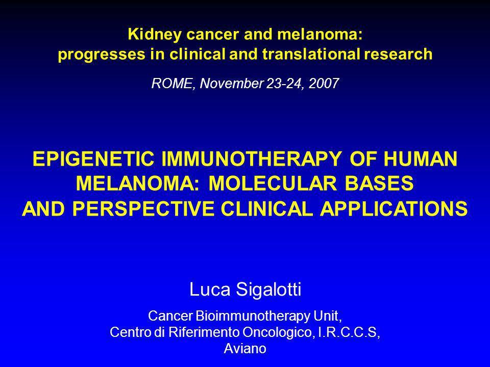 EPIGENETIC IMMUNOTHERAPY OF HUMAN MELANOMA: MOLECULAR BASES