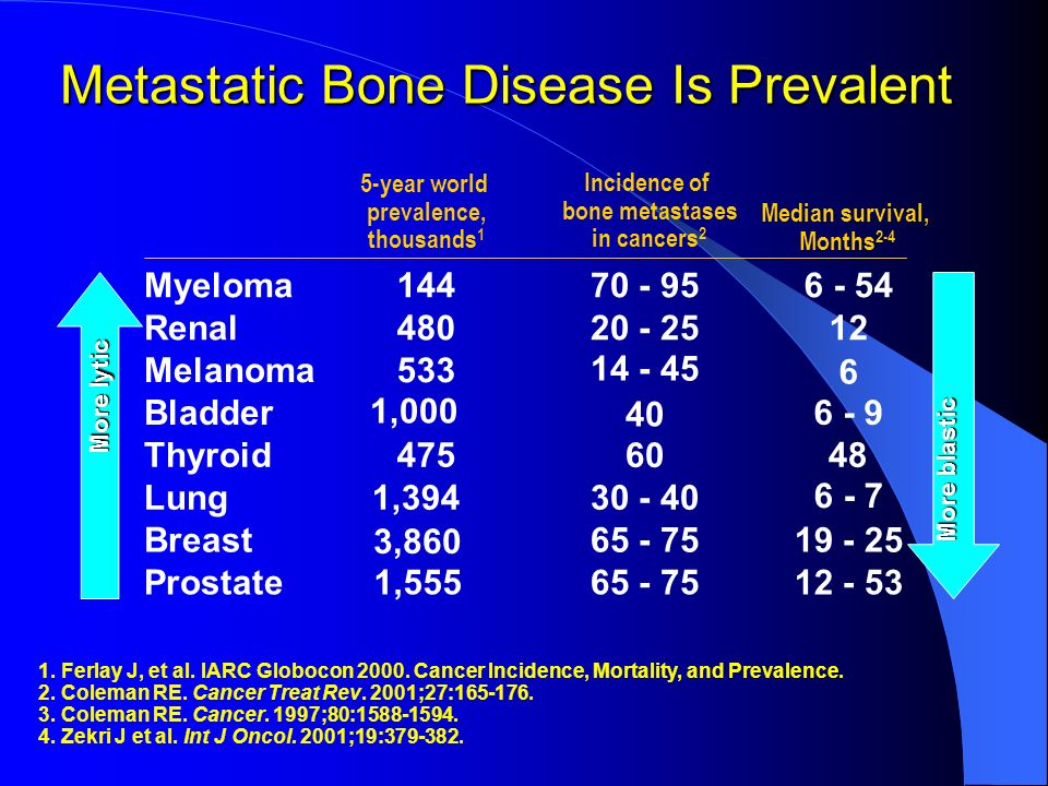 Metastatic Bone Disease Is Prevalent