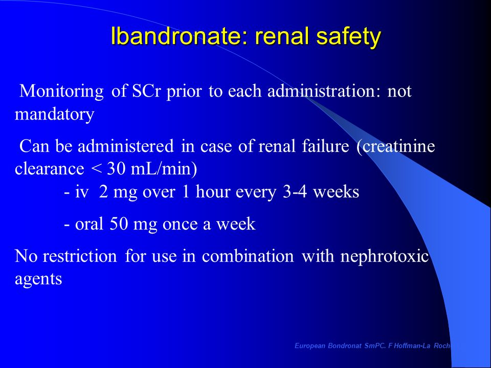 Ibandronate: renal safety