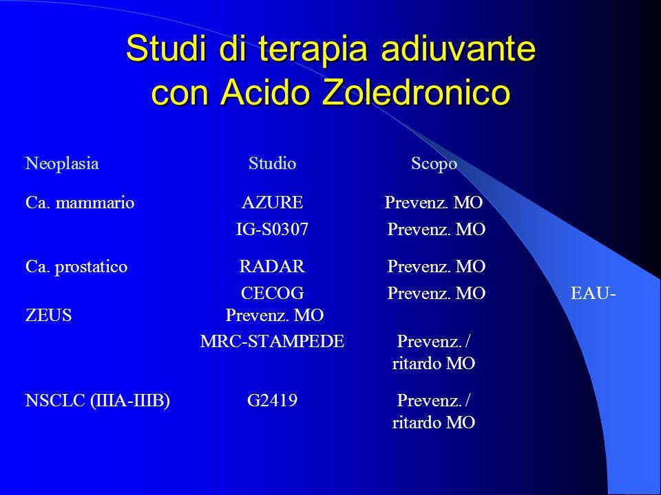 Studi di terapia adiuvante con Acido Zoledronico