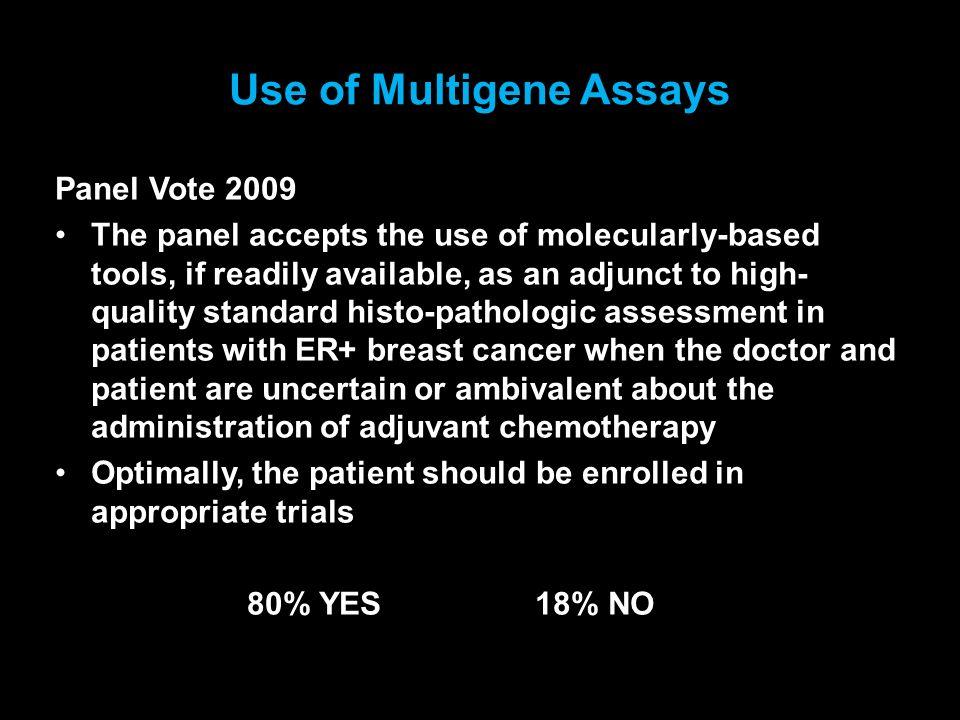 Use of Multigene Assays