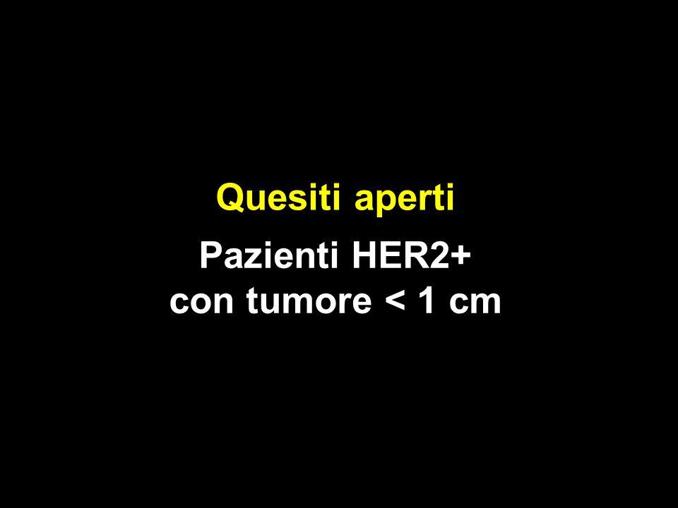 Pazienti HER2+ con tumore < 1 cm