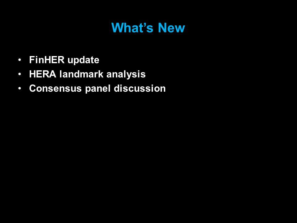 What's New FinHER update HERA landmark analysis