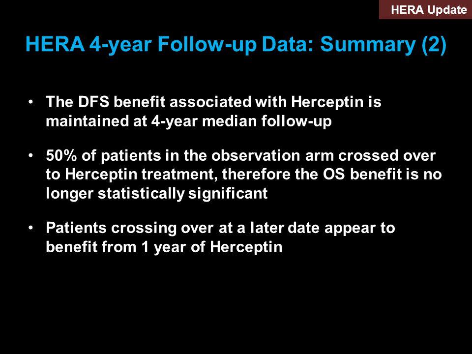 HERA 4-year Follow-up Data: Summary (2)
