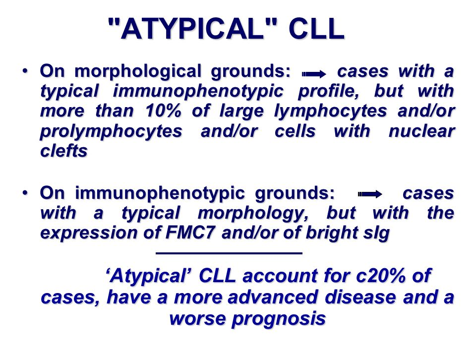 ATYPICAL CLL