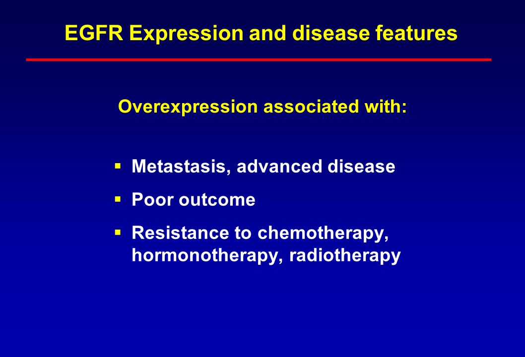 EGFR Expression and disease features