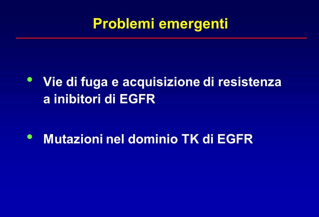 Problemi emergenti Vie di fuga e acquisizione di resistenza a inibitori di EGFR.