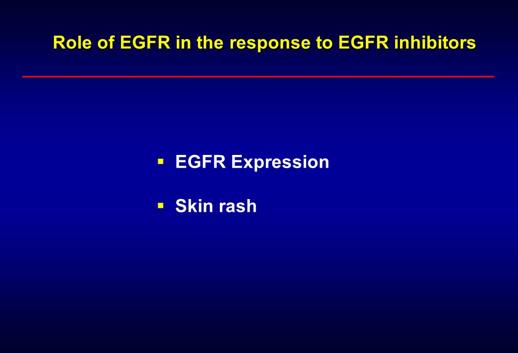 Role of EGFR in the response to EGFR inhibitors