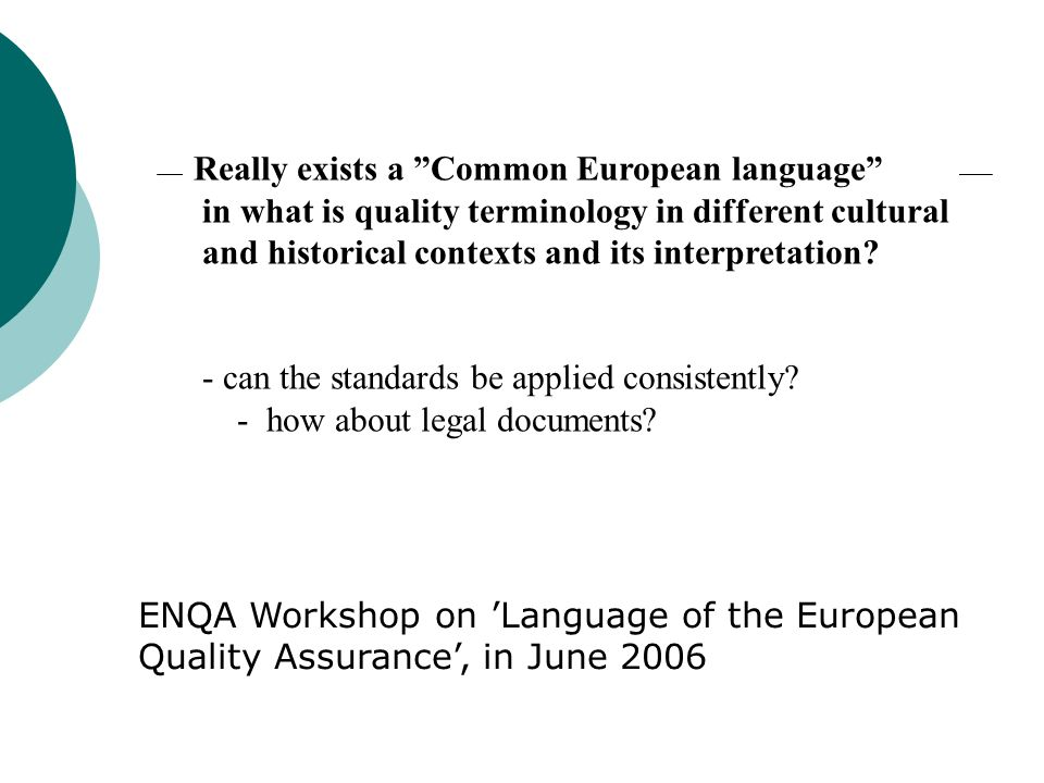 Really exists a Common European language