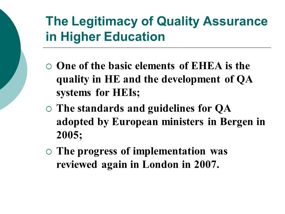 The Legitimacy of Quality Assurance in Higher Education