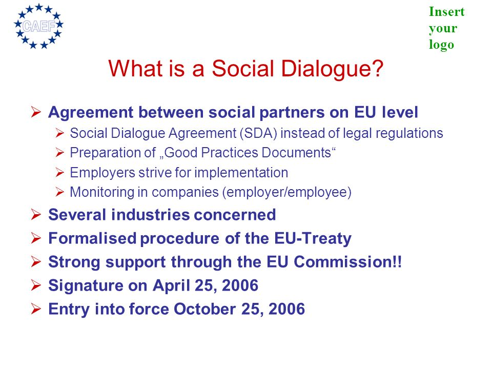 What is a Social Dialogue