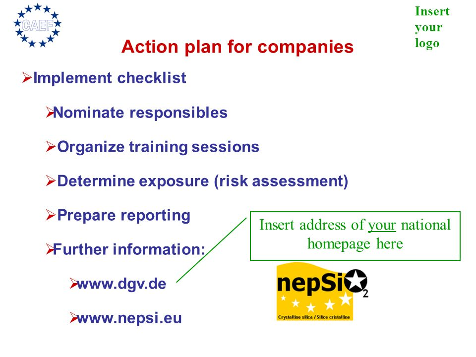 Action plan for companies