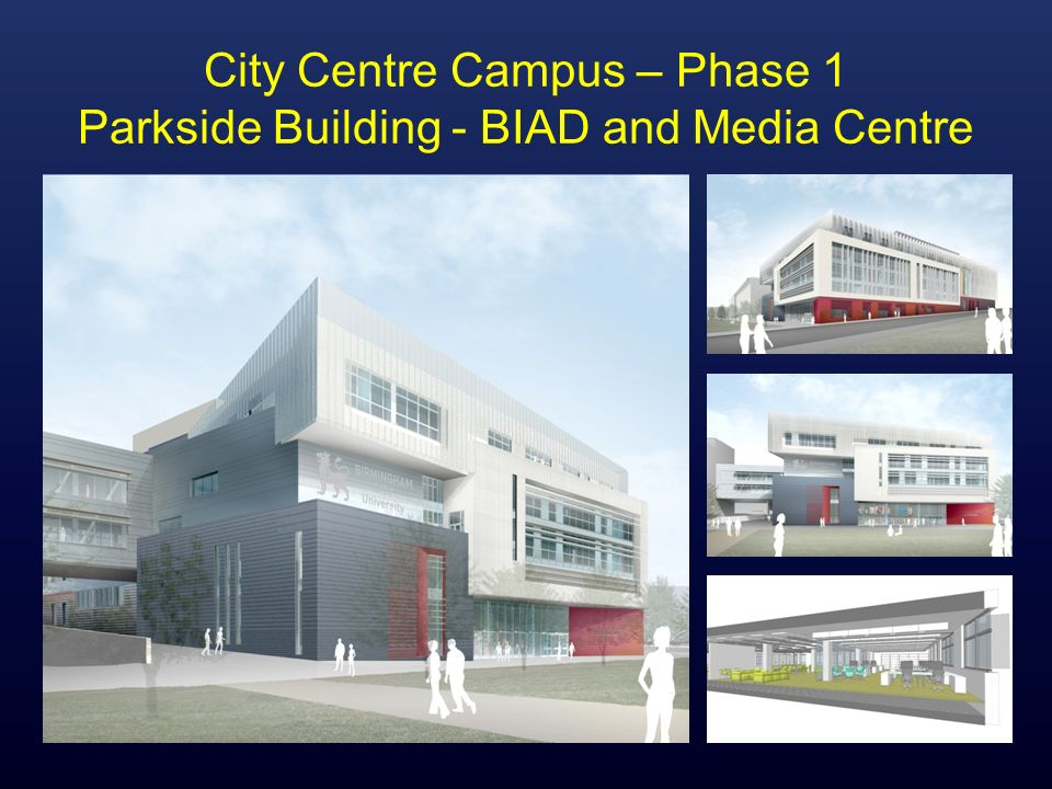 City Centre Campus – Phase 1 Parkside Building - BIAD and Media Centre