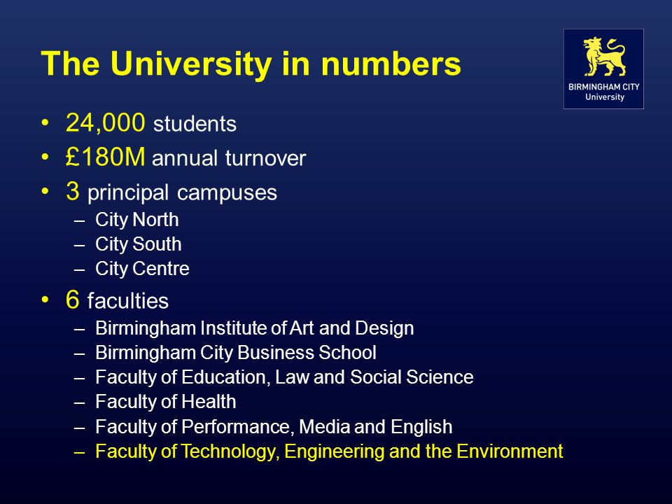 The University in numbers