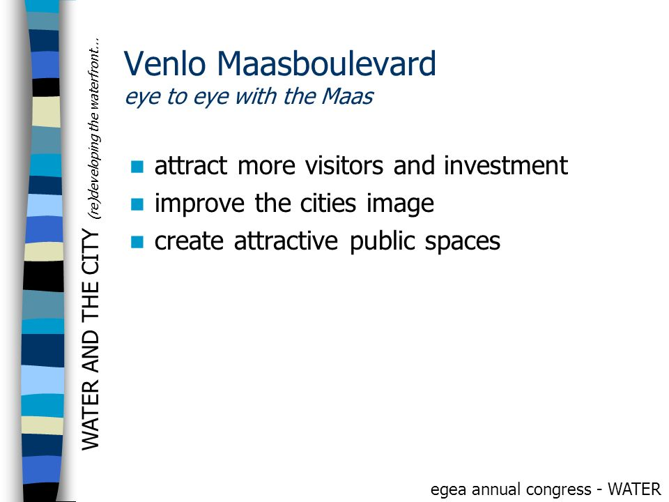 Venlo Maasboulevard eye to eye with the Maas