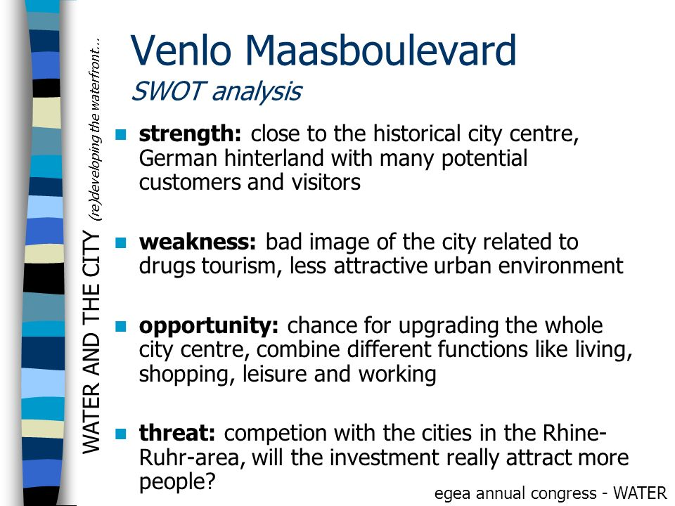 Venlo Maasboulevard SWOT analysis
