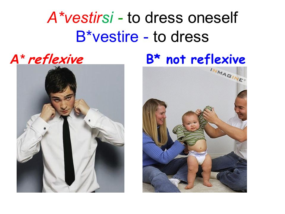 A*vestirsi - to dress oneself B*vestire - to dress
