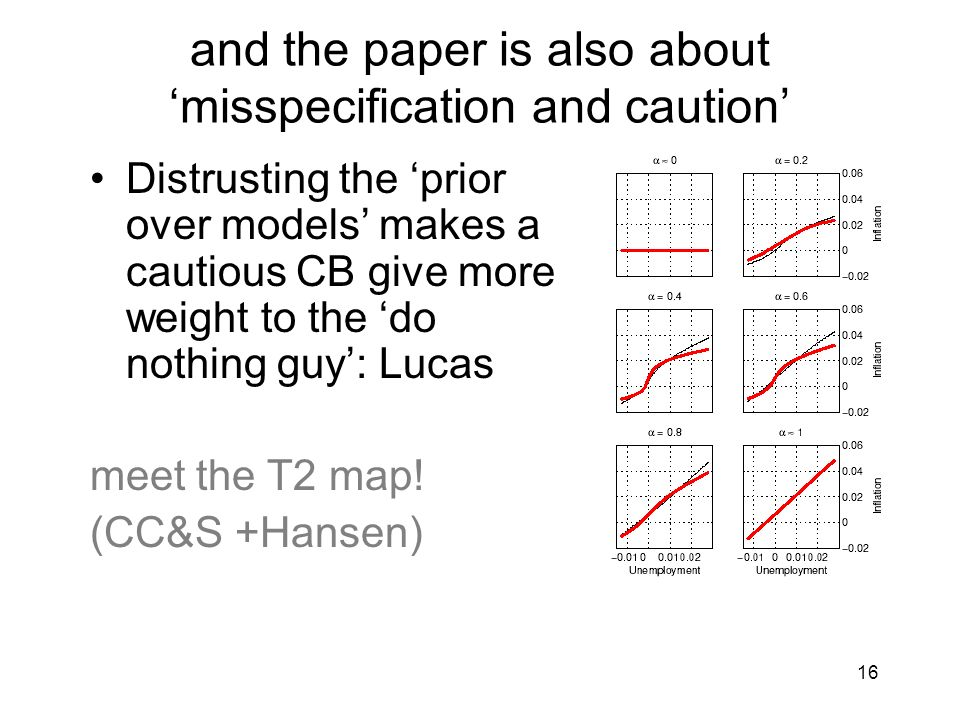 and the paper is also about 'misspecification and caution'