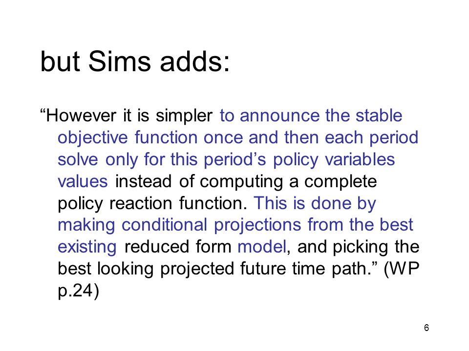 but Sims adds: