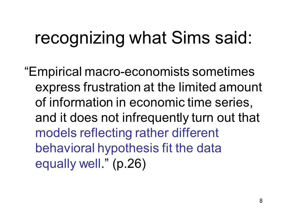 recognizing what Sims said: